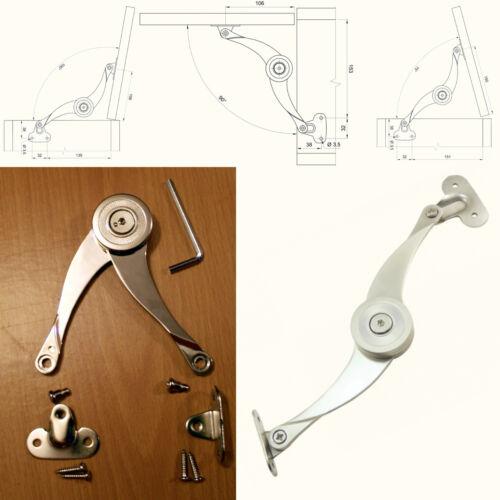 Soulevez le couvercle porte séjour struts doux duvet près mécanique frein à friction bras