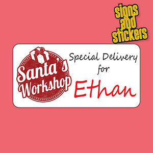 22 personalised christmas stickers gift tags xmas parcels presents