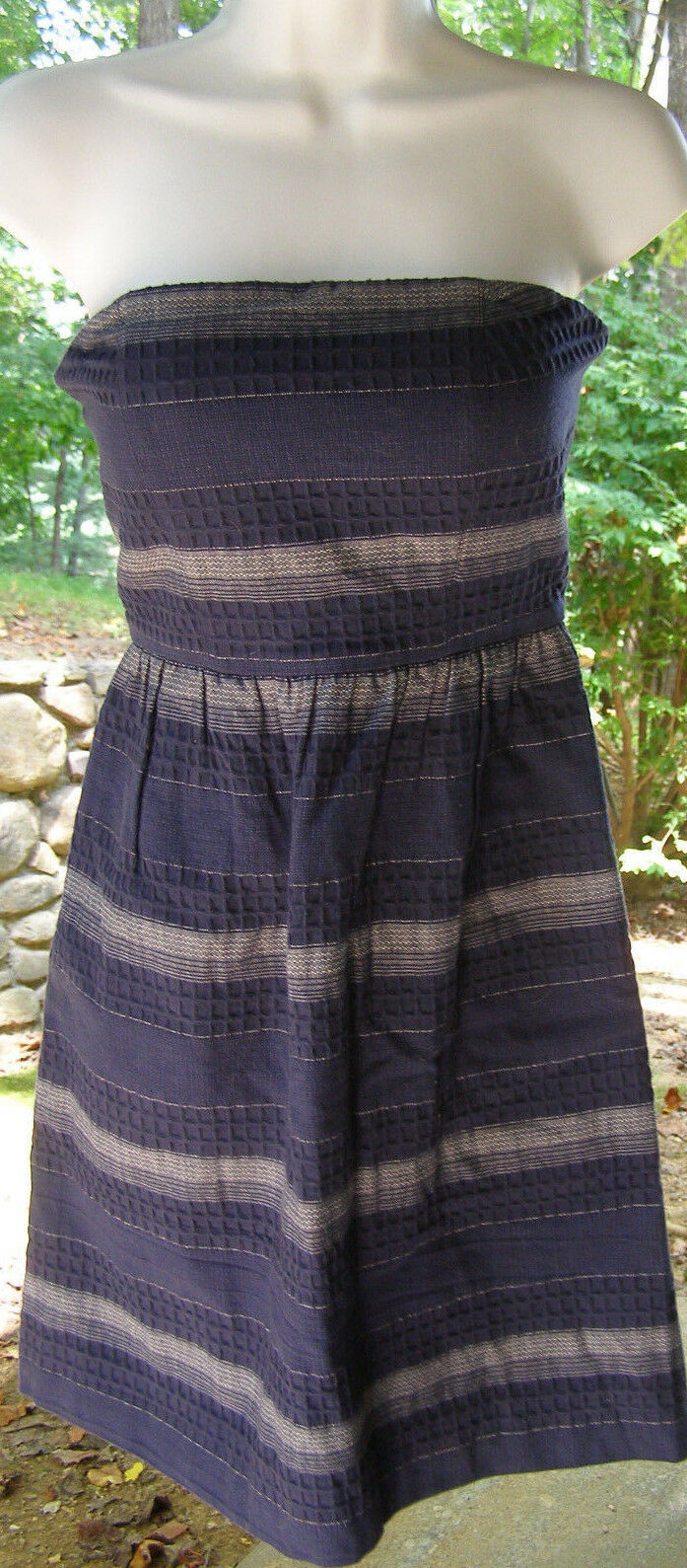 Madewell Woven Stripe Strapless Sundress - Size 2 - New