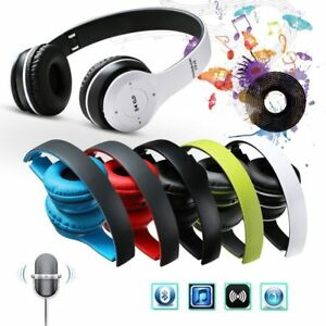 09ca17ed7e81c7 P47 Wireless Bluetooth 4.1 EDR Headphone Microphone Stereo Headset ...