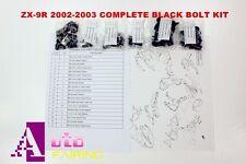 Complete Black Fairing Bolt Kit body for Kawasaki ZX-9R 2002-2003 ZX-9R 02-03