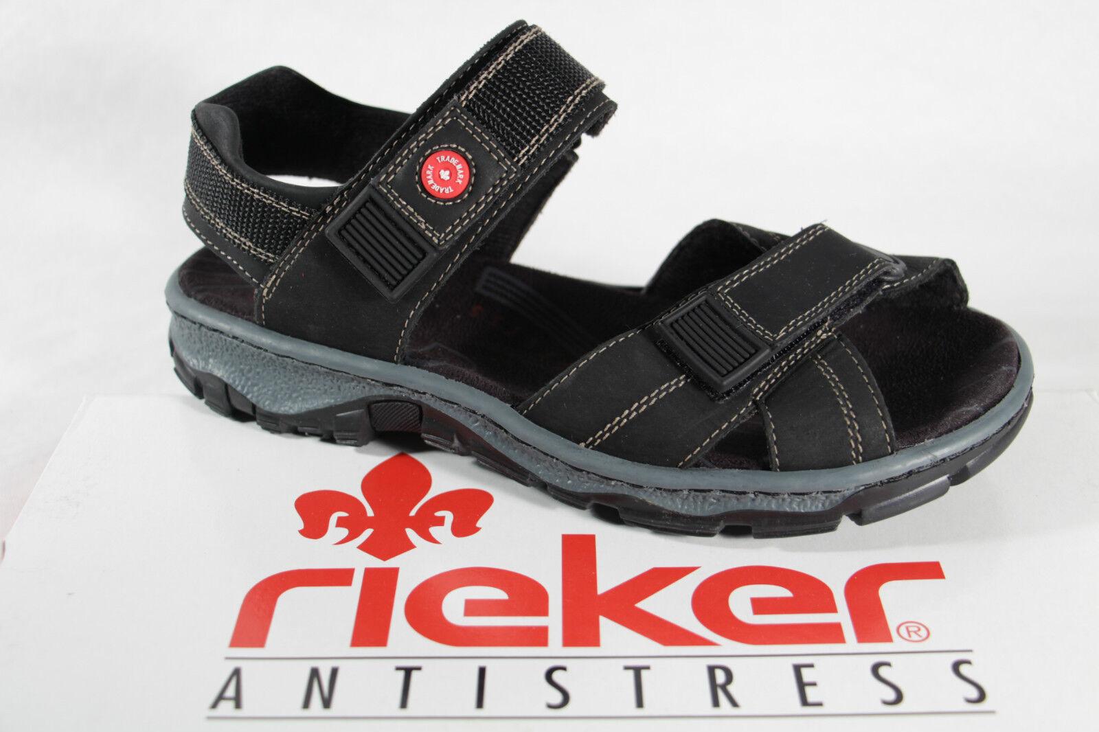 Rieker sandalias señora sandalias, negro, kv, suave plantilla interior 68851 nuevo!!!