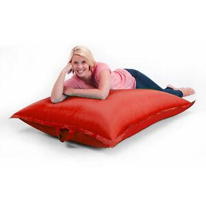Image Is Loading Red Large OUTDOOR Bean Bag Garden Waterproof Seat