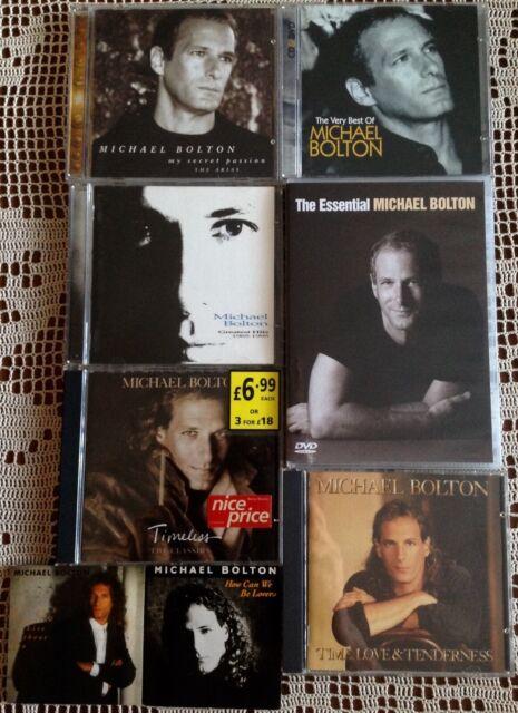Michael Bolton 7 CDs + 2 DVD's Sammlung