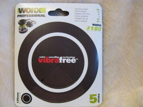 10x  WORX Professional Sanding Disc Pads 125mm Medium 180 Grit WA2012 DIY JobLot