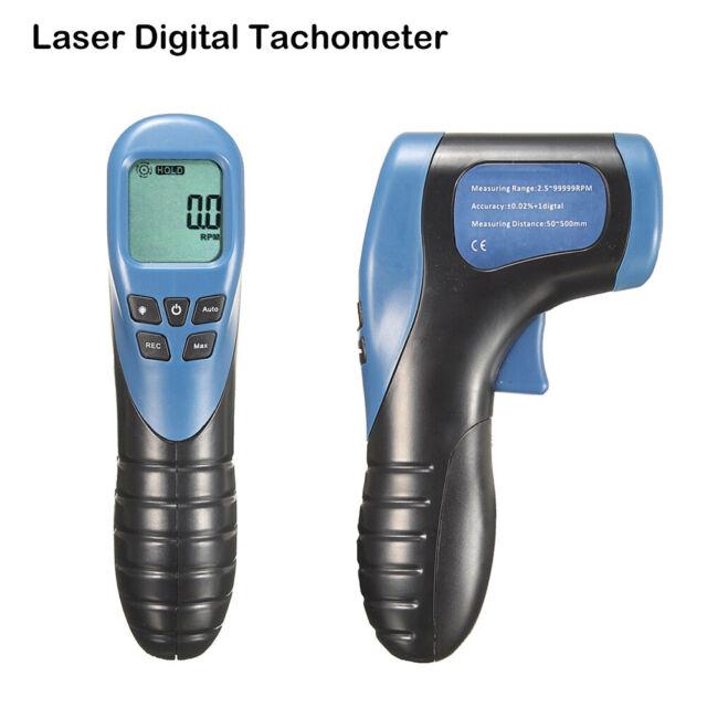 Digital LCD Photo Laser Tachometer RPM Meter NON-CONTACT Tach Tool Handheld AU