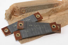 2x Vintage Draht-Widerstand 1 kOhm 4 W f. Röhrenverstärker, flach gewickelt, NOS