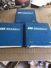 Gradall Manual Lot Combined Service Vols 1 Amp 2 Parts For Xl3100 2002 Amp 3 Ed