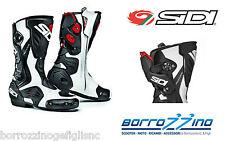 STIVALI moto RACING SIDI ROARR technomicro BIANCO - NERO TECNO 3 IRON TG. 42