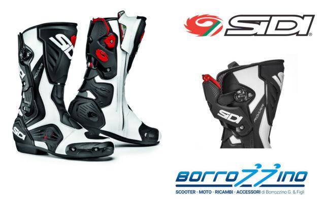 STIVALI moto RACING SIDI ROARR technomicro BIANCO - NERO TECNO 3 IRON TG. 45