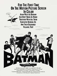 1966 Batman Movie Poster High Quality Metal Fridge Magnet 3x4 9764