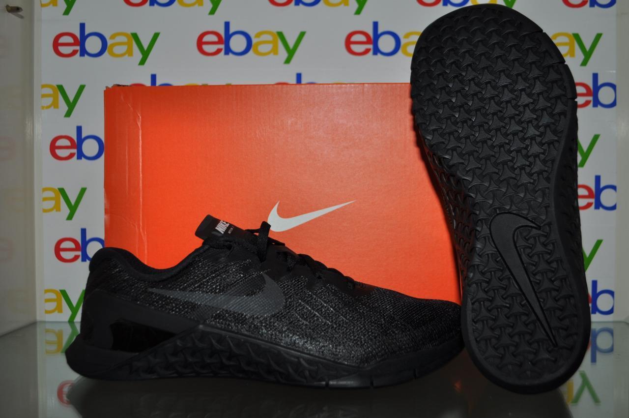 Nike Metcon 3 Mens Training Shoes 852928 002 Black NIB