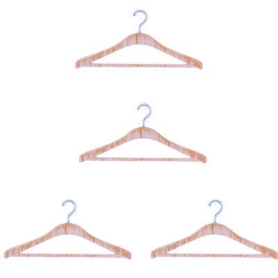 Dollhouse 4pcs Brown Clothing Hangers Miniature 1:12 Bedroom Wardrobe Decor