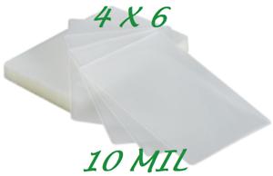 4 x 6 Laminating Laminator Pouches Sheets 4.25 x 6.25 10 Mil 100 pk Quality