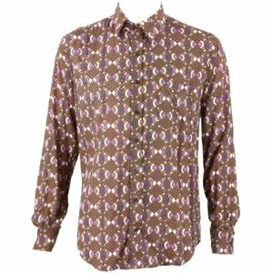 shirt Retrò T Uomo Marrone Psichedelico Abstract Da Funky Festa Loud wAt55qnE