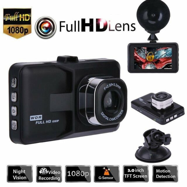 "3/"" FHD 1080P Car DVR Dual Lens Dash Cam Video Camera Recorder Night Vision 170°"