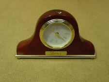Danbury Fancy Table Clock 8in L x 4 3/4in H x 1 1/2in D Browns/Golds Wood Metal