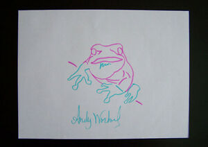 Andy-Warhol-034-Endangered-Species-Tree-Frog-034-Original-handsigned-drawing-COA