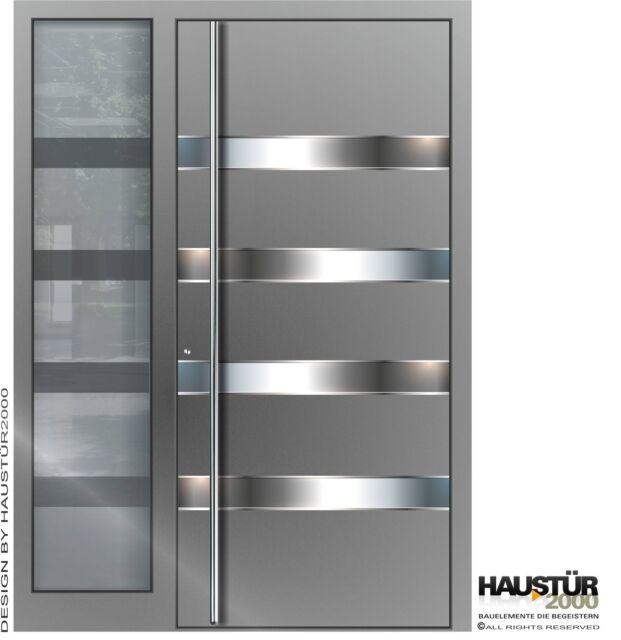 Aluminium Haustür Alu Haustür Haustüren 108 mm flügelüberdeckend HT 5420.1 FA SF