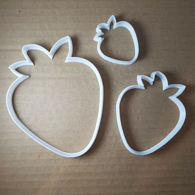 Strawberry Fruit Plant Shape Cookie Cutter Berry Biscuit Pastry Fondant Sharp