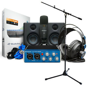 Presonus Audiobox 96 Ultimate Bundle Recording-set + Pied De Micro