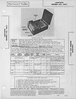 1947 LAFAYETTE J62 -C PHONOGRAPH RADIO SERVICE MANUAL PHOTOFACT SCHEMATIC TUBE
