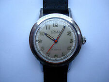 Copley Men's Automatic SS Watch 17j. Red Second Hand New Band Swiss 1950's Runs!