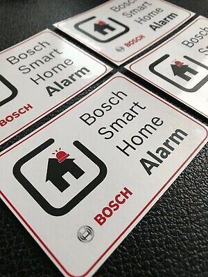 4x Bosch Smart Home Allarme | Impianto Di Allarme | Warn Nota Adesivo Sticker Scudo-