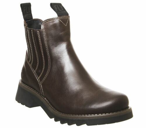 Womens Fly London Ronin Chelsea Boots Dark Brown Boots