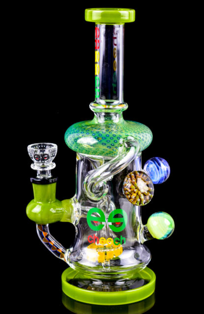 CUTE Colorful Ball Shaped THICK BONG Glass Water Pipe HEAVY Bubbler Hookah *USA*