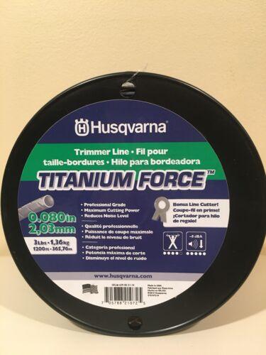 "Husqvarna .080/"" X 1200/' 3 lb Titanium Force Commercial Trimmer String Line USA"