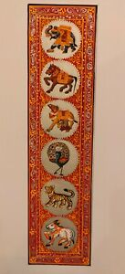 Hand-Painted-Procession-Miniature-Painting-India-Art-on-Silk-Nature-Animal