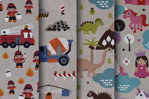 Designer-Fabric-Quality-Upholstery-Curtain-Cotton-Fabric-Children-039-s-Designs