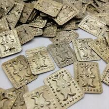 25 Rectangular Embossed Amulets Stamped Motifs Tribal Supply