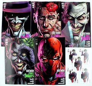 BATMAN-THREE-JOKERS-3-SET-OF-5-REG-PREMIUM-COVERS-5-Playing-Cards-w-Mylites-NM