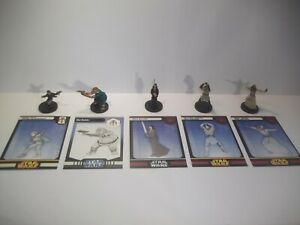 Star-Wars-Miniatures-Rare-Jedi-Fringe-Lot-Cards-x5-Rares