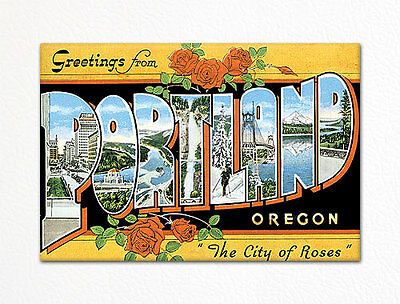 Greetings from Portland Oregon Fridge Magnet