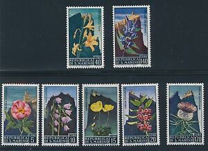 "1967 San Marino ""FLOWERS"" #654 - 660 MH COMPLETE"