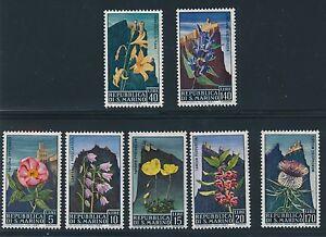 "1967 San Marino ""FLOWERS"" #654 - 660 MH COMPLETE"