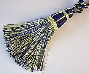 2-Tassels-With-Lots-Of-Fringe-for-Curtains-Extra-Large-Royal-Blue-amp-Gold