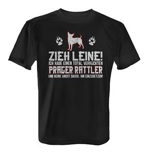 Prager Rattler Zieh Leine Herren T-Shirt Spruch Herrchen Hunde Besitzer Lustig