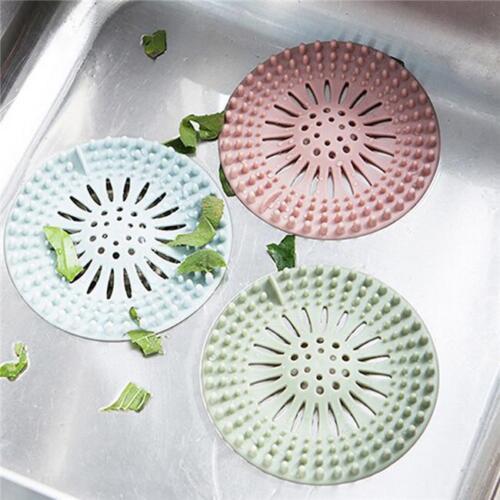 Silicone Bath Kitchen Waste Sink Strainer Filter Net Drain Hair Stopper Cover
