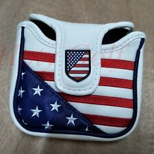 USA Square Mallet Putter Cover Golf Headcover for TaylorMade Spider Tour Magnet