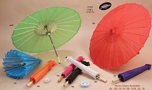 Paper Woooden Umbrella Parasols Decorative Wedding Baby Shower Photoshoot BULK