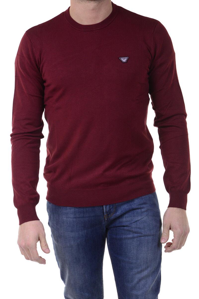 Maglia Maglietta Armani Jeans AJ Sweater Pullover  Herren Bordeaux 6X6MA56M0IZ 1492