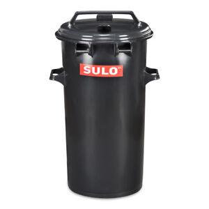 50-Liter-runde-SULO-Muelltonne-Muelleimer-Abfalltonne-Behaelter-Farbe-grau-NEUWARE