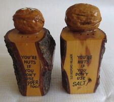 VTG Rare Wooden Salt and Pepper Shakers Old Bedford Village PA