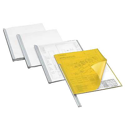 50 Stück DURABLE Klemmschienen für Format A4 3mm weiß