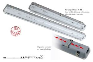 Plafoniere Per Neon : Plafoniera stagna per neon led ip uso esterno ed interno