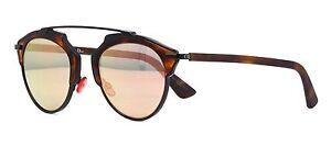 Christian-Dior-SO-REAL-X02JA-Sunglasses-Black-Havana-Pink-Mirror-Lens-NEW-Italy